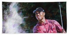 Tiger Woods  Beach Towel