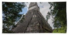 Tikal Pyramid 1b Beach Towel