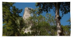 Tikal Pyramid 4a Beach Towel