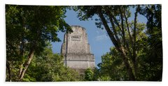 Tikal Pyramid 4b Beach Towel