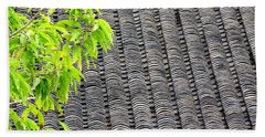 Tiled Roof Beach Sheet by Ethna Gillespie