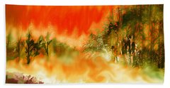 Beach Sheet featuring the mixed media Timber Blaze by Seth Weaver