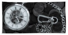 Time And Money Beach Towel