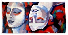 Beach Towel featuring the painting Time Goes By by Helena Wierzbicki