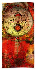 Time Passes Beach Towel by Ally  White