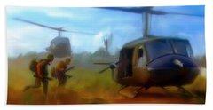 Time Sacrificed II Vietnam Veterans  Beach Towel by Iconic Images Art Gallery David Pucciarelli