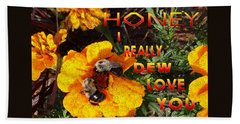 Time To Bumble Beach Towel