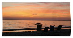 Beach Towel featuring the photograph Time To Reflect by Karen Silvestri
