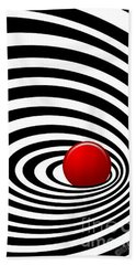 Time Tunnel Op Art Beach Sheet by Methune Hively