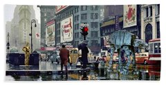 Times Square 1943 Reloaded Beach Towel