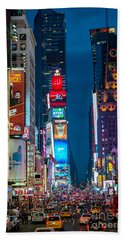 Times Square I Beach Towel