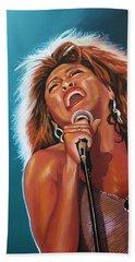 Tina Turner 3 Beach Sheet by Paul Meijering