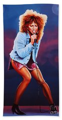 Tina Turner Beach Towel by Paul Meijering