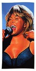 Tina Turner Queen Of Rock Beach Towel