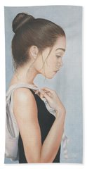Beach Towel featuring the painting Tiny Dancer by Dee Dee  Whittle