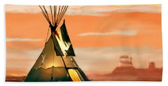 Tipi Or Tepee Monument Valley Beach Sheet