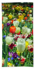 Tiptoe Through The Tulips Beach Towel