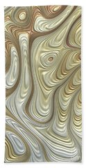 Titanium Flow Beach Towel