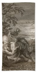 Tithonus, Auroras Husband, Turned Into A Grasshopper Beach Towel