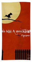 To Kill A Mockingbird Book Cover Movie Poster Art 1 Beach Towel by Nishanth Gopinathan