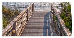 To The Beach Beach Sheet by Paulette B Wright