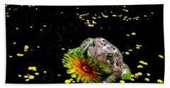 Toad In A Lions Den Beach Sheet