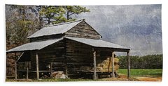 Tobacco Barn In North Carolina Beach Towel