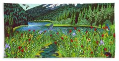 Todd Lake Mt. Bachelor Beach Towel
