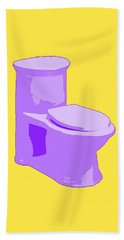 Toilette In Purple Beach Sheet