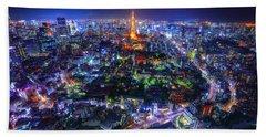 Tokyo Dreamscape Beach Sheet