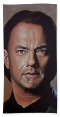 Tom Hanks Beach Towel by Paul Meijering