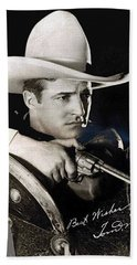 Tom Mix Portrait Melbourne Spurr Hollywood California C.1925-2013 Beach Sheet by David Lee Guss