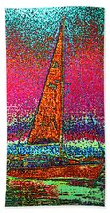 Tom Ray's Sailboat 3 Beach Towel by First Star Art