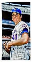 Tom Seaver Beach Towel