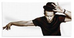Tom Waits Artwork  4 Beach Towel by Sheraz A