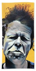 Tom Waits - He's Big In Japan Beach Towel by Kelly Jade King