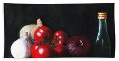 Tomatoes And Onions Beach Towel