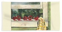 Tomatoes On The Sill Beach Towel