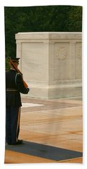 Tomb Of The Unknown Soldier Beach Towel by Kim Hojnacki