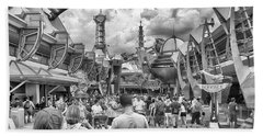 Beach Towel featuring the photograph Tomorrowland by Howard Salmon