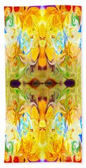 Beach Towel featuring the digital art Tony's Tower Abstract Pattern Artwork By Tony Witkowski by Omaste Witkowski