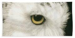Topaz In The Snow Beach Towel by Pat Erickson