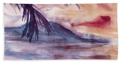 Beach Sheet featuring the painting Topical Mood by Darice Machel McGuire