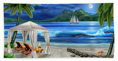 Tropical Paradise Beach Sheet by Glenn Holbrook