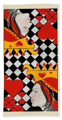 Beach Towel featuring the painting Topsy-turvy Queen by Carol Jacobs