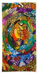 Beach Sheet featuring the tapestry - textile Tor by Apanaki Temitayo M