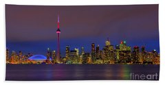 Toronto By Night... Beach Towel