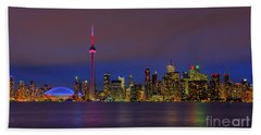 Toronto By Night... Beach Sheet