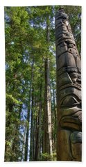 Totem Pole Beach Towel by David Andersen