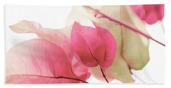 Touch Of Pink Bougainvillea Beach Towel